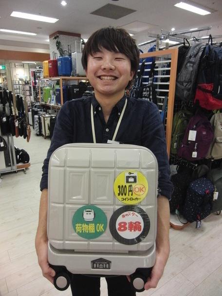 山形フジタイオン北店より「パッカ~ン」と開くスーツケース!!
